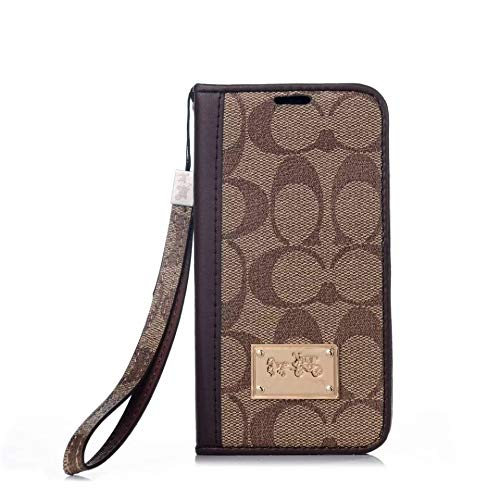 Kaisheng iPhone 11 case,Luxury Monogram Wallet Case,Premium Magnetic Leather Shockproof Wallet Flip Protective Cover with Credit Card Slot Cover for Apple iPhone 11 6.1