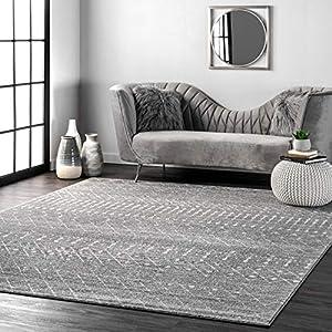 nuLOOM Moroccan Blythe Area Rug, 8′ x 10′, Dark Grey