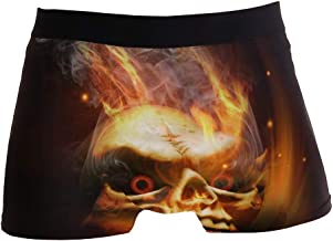 DEZIRO Fire Smoke Skeleton Skull heren Sport Boxer...