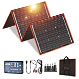 DOKIO 150 watts Solar Panel Kit Portable Folding Monocrystalline Include Solar Charge Controller and PV Cable for 12v Battery...