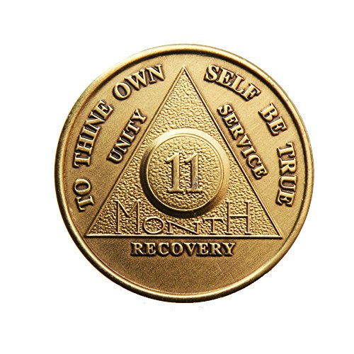 wendells 11 Month Bronze AA (Alcoholics Anonymous) - Sober / Sobriety / Birthday / Anniversary / Recovery / Medallion / Chip