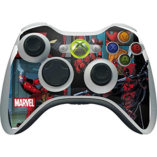 Skinit Decal Gaming Skin Compatible with Xbox 360 Wireless Controller - Officially Licensed Marvel/Disney Deadpool Comic Design