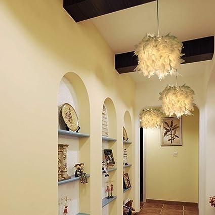 Hlidpu Feather Mini Pendant Lighting Shade Paquete de 1,25cm restaurantes l/ámpara de Cocina LED Ajustable para Isla de Cocina hoteles y Tiendas