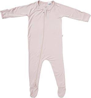 Boody Body Baby EcoWear Long Sleeve Onesie - Bamboo Viscose - Soft Blanket Sleeper, Built in Mittens