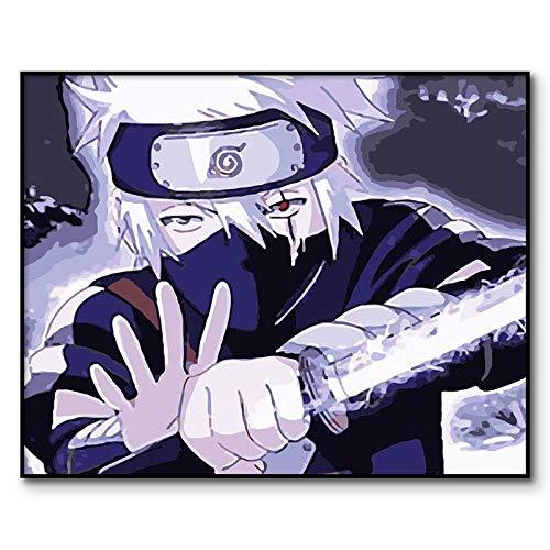AQgyuh Puzzle 1000 Piezas Naruto Anime Imagen Digital en Juguetes y Juegos Gran Ocio vacacional, Juegos interactivos Familiares Rompecabezas de Juguete de descompresión intelectual50x75cm(20x30inch)