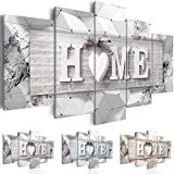 murando Impression sur Toile intissee 200x100 cm 5 Parties Tableau Tableaux Decoration Murale Photo Image Artistique Photographie Graphique Home Planche 3D m-C-0251-b-n 200x100 cm