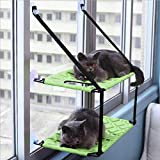 KSIASGDHA Mascotas Gatos y Perros Pequeños Cálido Suave y cómodo Hammock Window Suction Cup Hanging Climbing Frame Litter Single Layer Double Bed Load Capacity 26kg