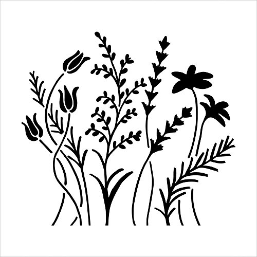 Bible Journaling Stencil - Wildflowers (6