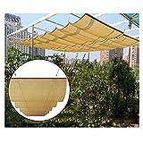 WXQIANG - Copertura a baldacchino retrattile per pergola, filo scorrevole al 95% resistente ai raggi UV, per terrazza, gazebo, tenda da tetto a onde cortili, protezione solare, isolamento termico,