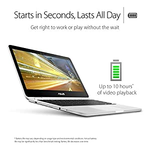 Asus C302CA-DHM4 Chromebook Flip 12.5-Inch Touchscreen Convertible Chromebook, Intel Core M3, 4GB RAM, 64GB Flash Storage, All-Metal Body, USB Type C, Corning Gorilla Glass, Chrome OS