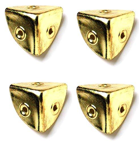 Bulk Hardware BH03647 Angolari Anodizzati Ottone per Valigie, Bianco, 28 mm, Set di 4 Pezzi