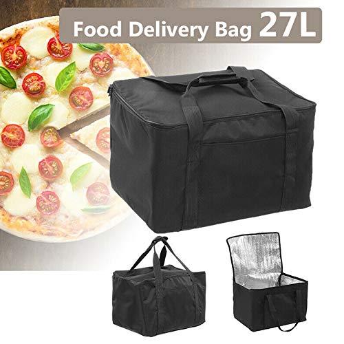 Lebensmittel-Liefertasche,wiederverwendbare isolierte Einkaufstüte Großer wasserdichter Einkaufstasche-Reißverschlussdeckel für heiße oder kalte Lebensmittel Verstärkte Bodenplatte