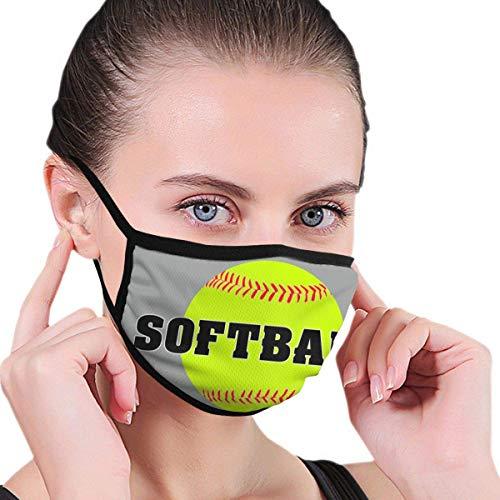 Bedrukte softbal voor volwassenen, kinderen, middelste gezicht, wasbaar, herbruikbaar, mond – afdekking voor openbare plaatsen.