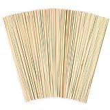 ANSUG 100 Pack Holzstäbchen, Unvollendete Natürliche Bambus Dübelstangen für DIY Handwerk Modellprojekte, Die Gebäude Modell Kinder Lernspielzeug (5mm * 30 cm)