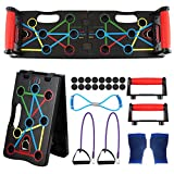 Migaven Push up Rack Board, Tabla Flexiones, 9 en 1 Flexiones Plegable y Multifuncional Equipo de Fitness, Gym en Casa para Entrenamientos
