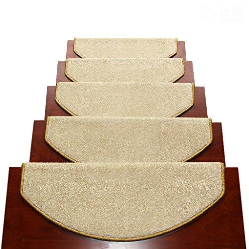 Tappeti scale2 BBYE Extra Spesso Stair Carpet Libero Autoadesive Antiscivolo Solido della Famiglia di Legno Passaggio Pad (Colore : #1, Dimensioni : 65 * 24cm-A)
