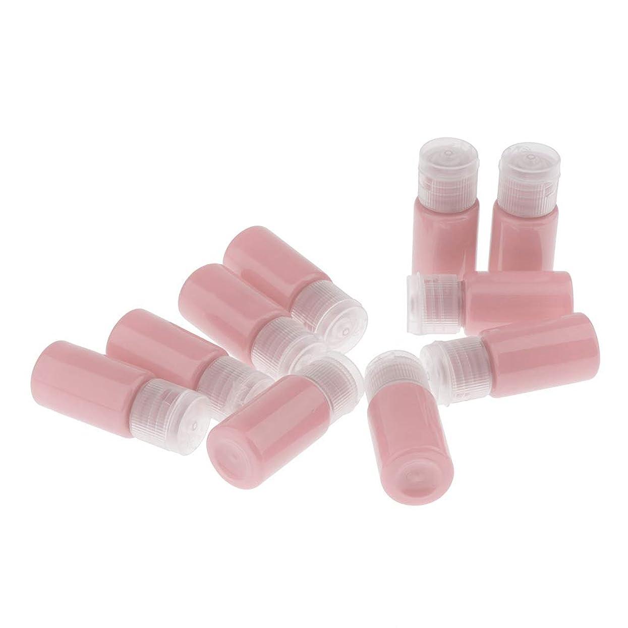 会計士無視反応するSM SunniMix サンプルボトル プラスチック 10ミリリットル トナーリムーバー 液体容器 トラベル 全8色 - ピンク