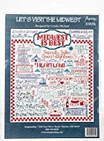 """Imaginating Counted Cross Stitch Kit 10""""X11""""-Let's Visit The Midwest (14 Count)"""