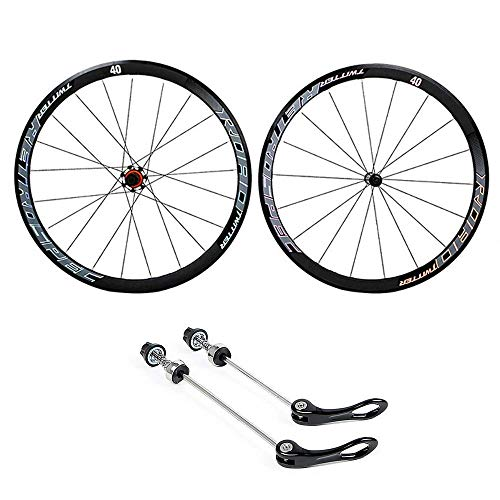 Cycling Wheels 700C, Rear Wheel and Front Wheel Double Walled Aluminum Alloy Bicycle Wheels BMX Road Bicycle Wheelset Fast Release 8 9 10 11 Speed