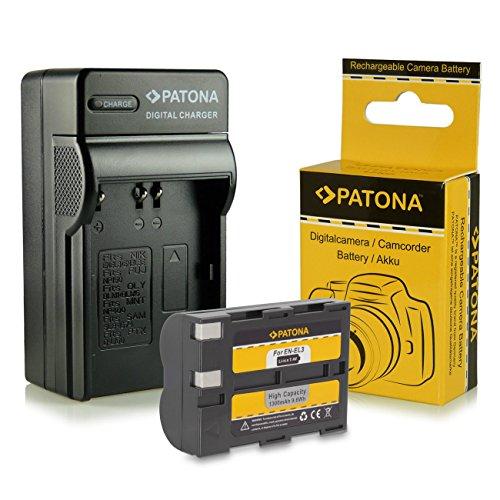 Cargador + Batería EN-EL3 / ENEL3a para Nikon D50 | D70 | D70s | D100