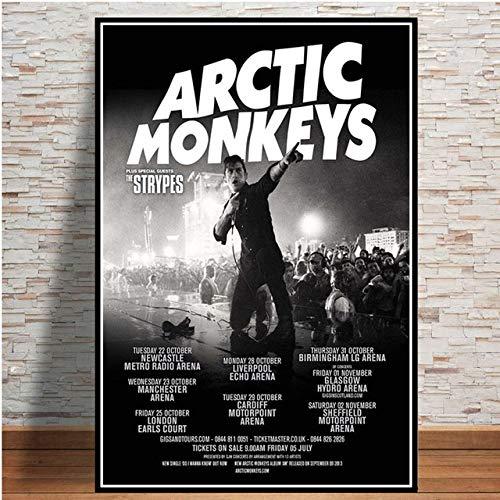 Furnier Leinwand Wandbild dekorative Malerei Poster und Drucke Arctic Monkey Musikband Zitat Poster Wandkunst Bild Leinwand Malerei Raumdekoration 50x70cm ohne Rahmen