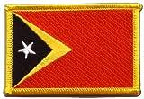 Aufnäher Patch Flagge Osttimor - 8 x 6 cm