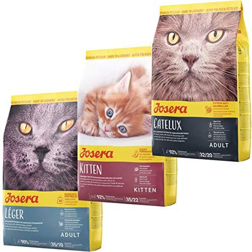 Josera Die Gourmetvariation für die Katze: je 2 kg Léger, Kitten & Catelux