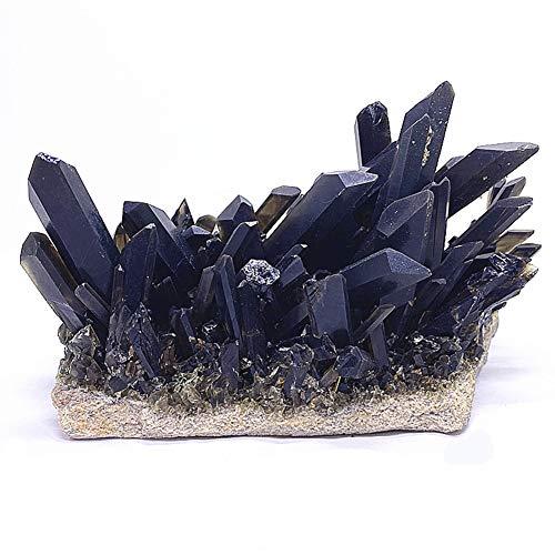 Cristal negro natural racimos grandes piedras de cristal ásperas para purificar la colección mineral de energía negativa