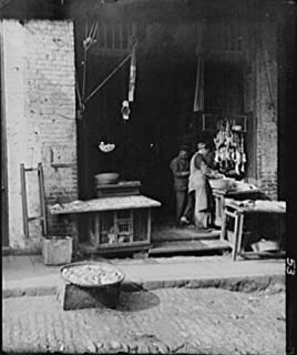 1896 Photo Fish Alley, Chinatown, San Francisco vintage black & white photo C379