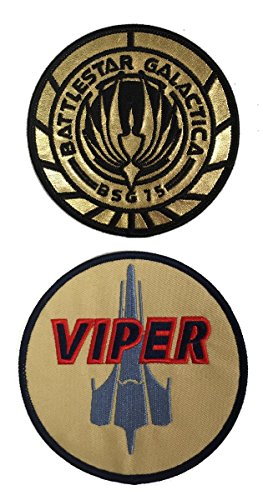 Patches Battlestar Galactica Uniform/Kostüm 8,9 cm Patch Set von 2