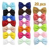 Petites pinces à cheveux/barrettes en forme de nœuds, en ruban gros-grain, disponibles en 20 couleurs, pour filles, enfants, nouveau-nés, bébés, chiens.