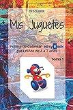Mis Juguetes: Folleto de Colorear e@syBook para niños de 4 a 7 años