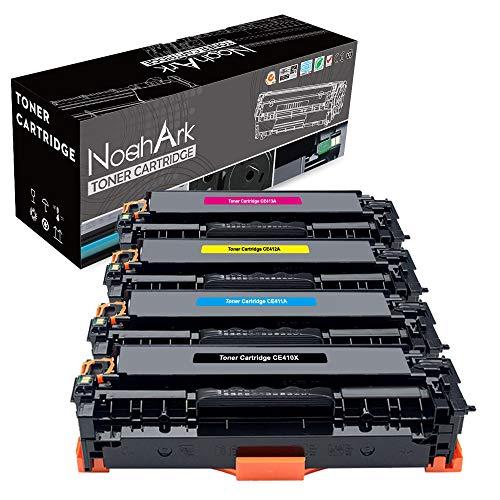 NoahArk kompatible für HP CE410X CE411A CE412A CE413A Tonerkartuschen Ersatz für HP Laserjet Pro 400 Color MFP M475DN M475DW M451NW M451DN HP Laserjet Pro 300 Color M351A MFP M375NW (BK/C/Y/M,4 Pack)