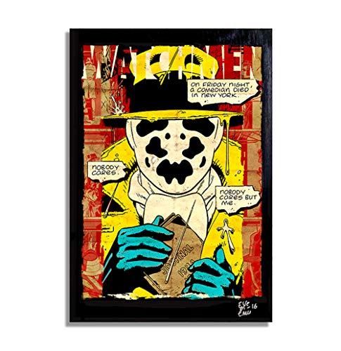 Watchmen Rorschach DC Comics - Original gerahmt Fine Art Malerei, Poster, Leinwand, Artwork, Druck, Plakat, Leinwanddruck