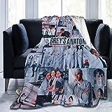 WANGH Greys-Anatomy Fleece Blanket Super Soft Warm Bed Blanketfor Bed Living Room Sofa Travelling Blankets 50'X40'