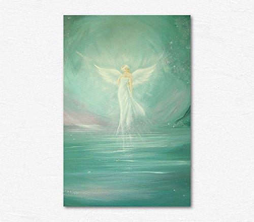 Henriettes-ART Engelbild, original Künstler Kunstfoto: Bereit für die Magie Schutzengelbilder, Wanddeko Engel für Bilderrahmen