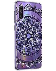 Oihxse Mandala Flores Encaje Patrón Serie Case Compatible con Samsung Galaxy J2 Pro 2018 Funda TPU Silicona Suave Protector Ultra Slim Anti-Rasguño Transparente Carcasa (A1)