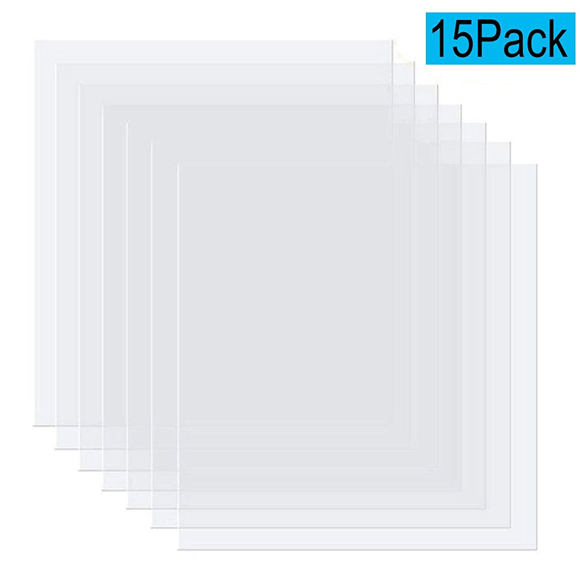 15 Pieces Blank Stencil Material Mylar Template Sheets for Stencils, 12 x 12 inches 0.1mm Thickness