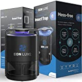 Eon Luxe Solutions Indoor Mosquito Killer & Fruit Fly Trap - NO ZAPPING NONTOXIC - Indoor Mosquito Killer - Also for Gnats, Drain Flies, Mosquito, Insect Killer - Indoor Kitchen Bug Catcher
