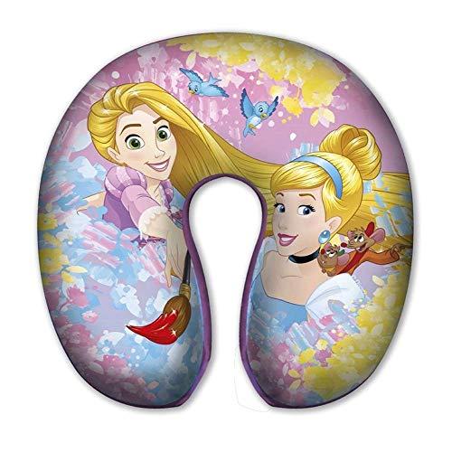 COUSSIN DE Voyage Princesses Raiponce Cendrillon Disney Polyester CM. 30 X CM. 30 X H. CM. 8 - 59654