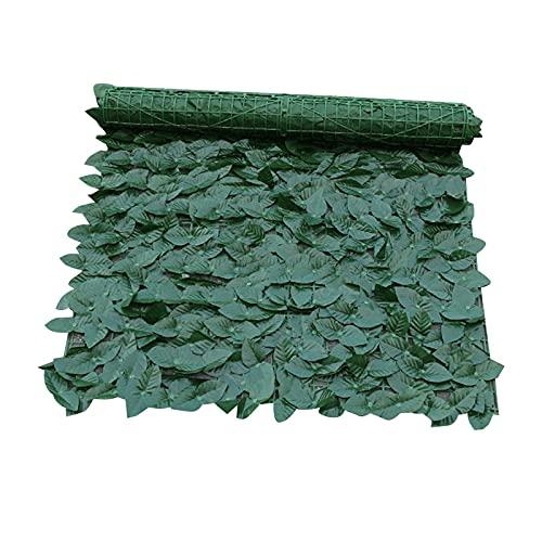 MEIYOUMK Künstliche Efeu Garten Sichtschutz, Hecke Sichtschutzhecke Pflanzen, Hecken Zaun und künstliche Blatt Dekoration für Outdoor-Dekor, Garten