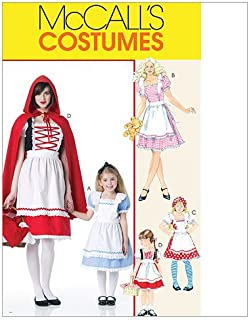 McCall's M6187 Girl's Fairy Tale Princess Halloween Costume Sewing Patterns, Sizes S-XL