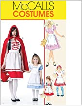 McCall's M6187 Girl's Fairy Tale Princess Halloween Costume Sewing Patterns, Sizes 3-8