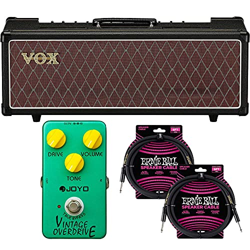 Vox AC30CH 30W Tube Head, Vox Cover for AC30, (2) EBall Cables, JOYO JF-01 Effect Pedal Bundle