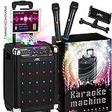 KaraoKing Karaoke Machine for Kids & Adults Wireless Microphone Speaker with Disco Ball, 2 Wire…