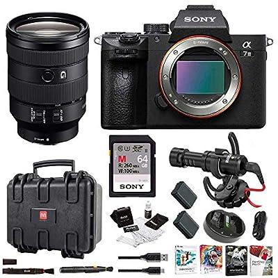 Sony a7 III Full Frame Mirrorless Interchangeable Lens Camera w/FE 24-105mm f/4 G OSS Full-Frame E-Mount Lens Bundle from Sony