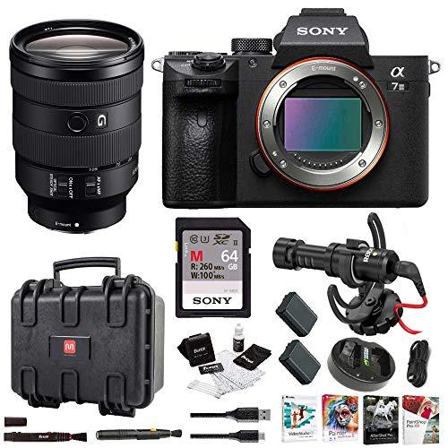 Sony a7 III Full Frame Mirrorless Interchangeable Lens Camera w FE 24-105mm f 4 G OSS Full-Frame E-Mount Lens Bundle