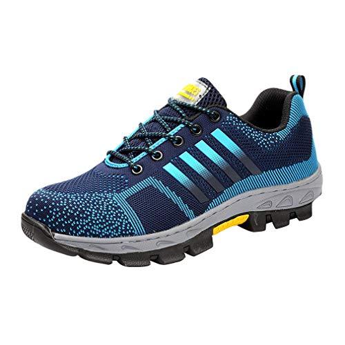 Hombre Mujer Zapatos de Trabajo Zapatos de Protección Acero S3 Sneakers de Malla Zapatillas de Deporte Unisexo Zapatos de Seguridad Zapatos Casuales Ligero Transpirable