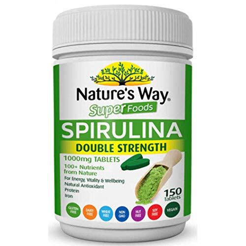 Nature's Way Super Foods Spirulina Double Strength Tablets, 0.19 Kilograms