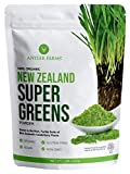 Antler Farms - 100% Pure New Zealand Super Greens Powder, 40 Servings, 200g - Wheat Grass, Barley Grass, Chlorella, Spirulina - Vegan, Gluten Free, Chlorophyll Rich, for Energy and Detox